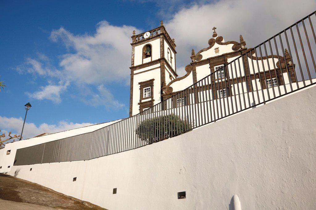 Stock Photo: 1566-991295 Church in the parish of Santa Cruz, city of Lagoa  Sao Miguel island, Azores, Portugal