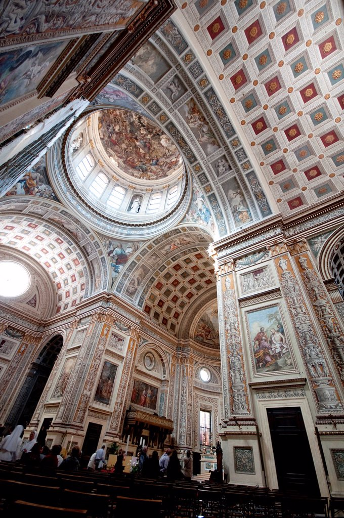 Stock Photo: 1566-991430 Italy, Lombard, Mantua, Chiesa di Sant´ Andrea Church, Interior View