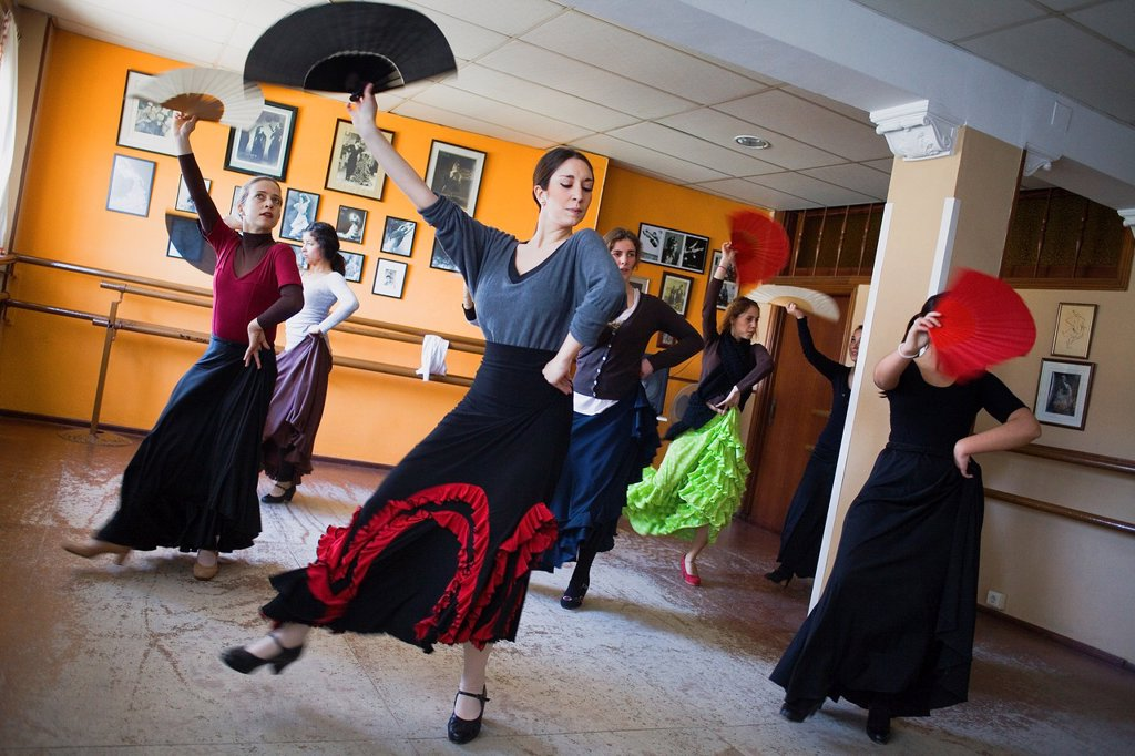 Stock Photo: 1566-991569 Matilde Coral flamenco dance school at calle Castilla, Triana district  Sevilla  Andalusia  Spain