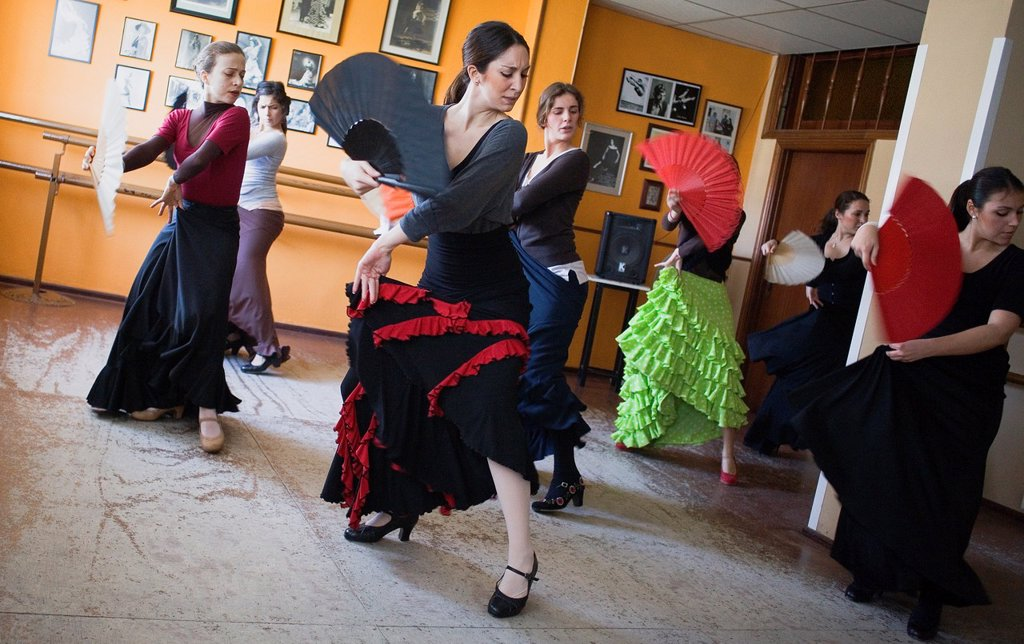 Stock Photo: 1566-991570 Matilde Coral flamenco dance school at calle Castilla, Triana district  Sevilla  Andalusia  Spain