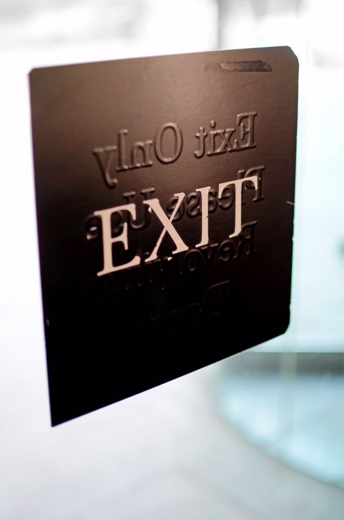 Exit Sign  American Museum of Natural History, New York : Stock Photo