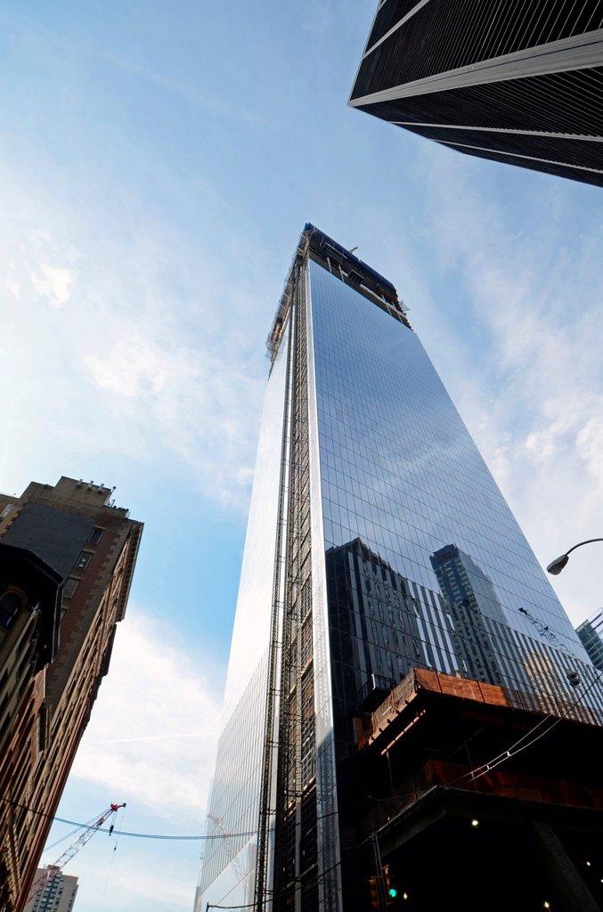 Stock Photo: 1566-991868 New World Trade Center under construction, Ground Zero, New York
