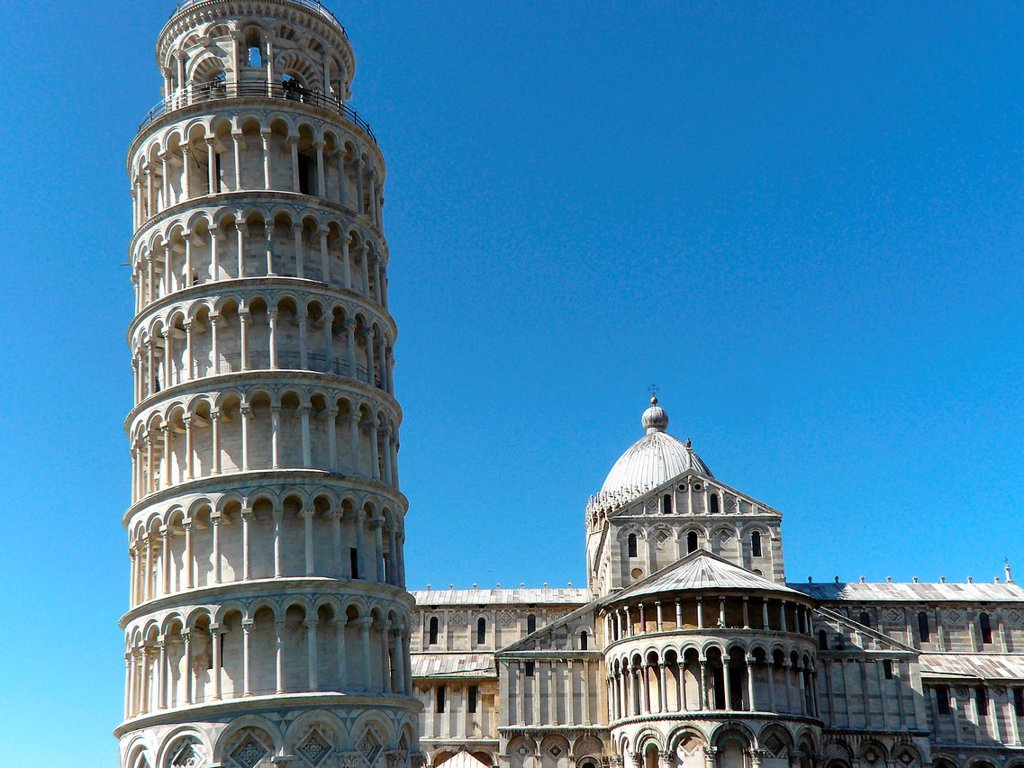 Pisa Italy  Leaning Tower of Pisa in the Square of Miracles in Pisa : Stock Photo