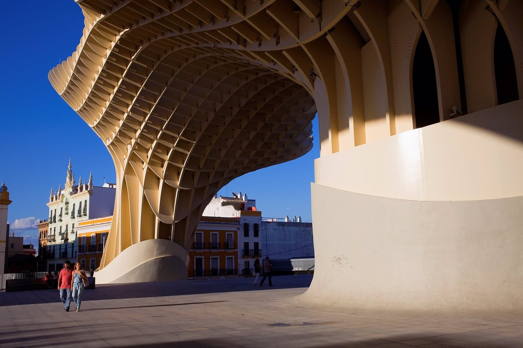 Metropol Parasol,in Plaza de la Encarnación,Sevilla,Andalucía,Spain : Stock Photo