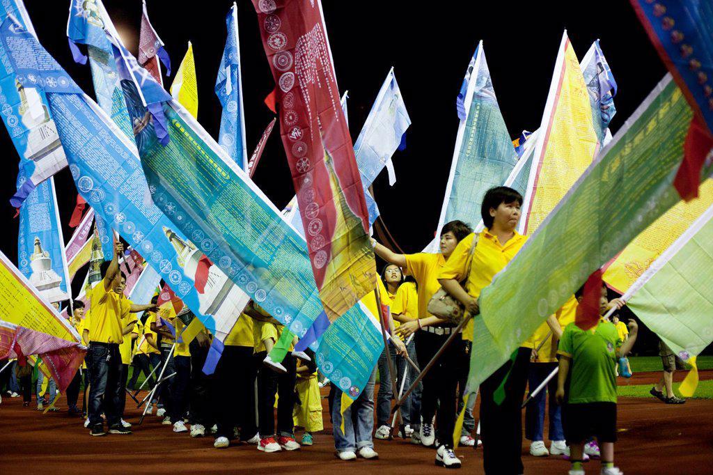 Stock Photo: 1566-992504 Wesak Day Celebration year 2012 in Kuching, Sarawak, Malaysia.