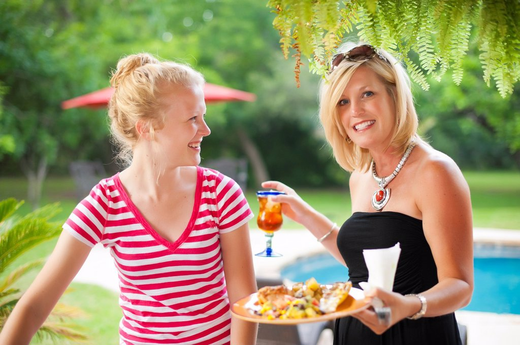 American family backyard barbecue : Stock Photo