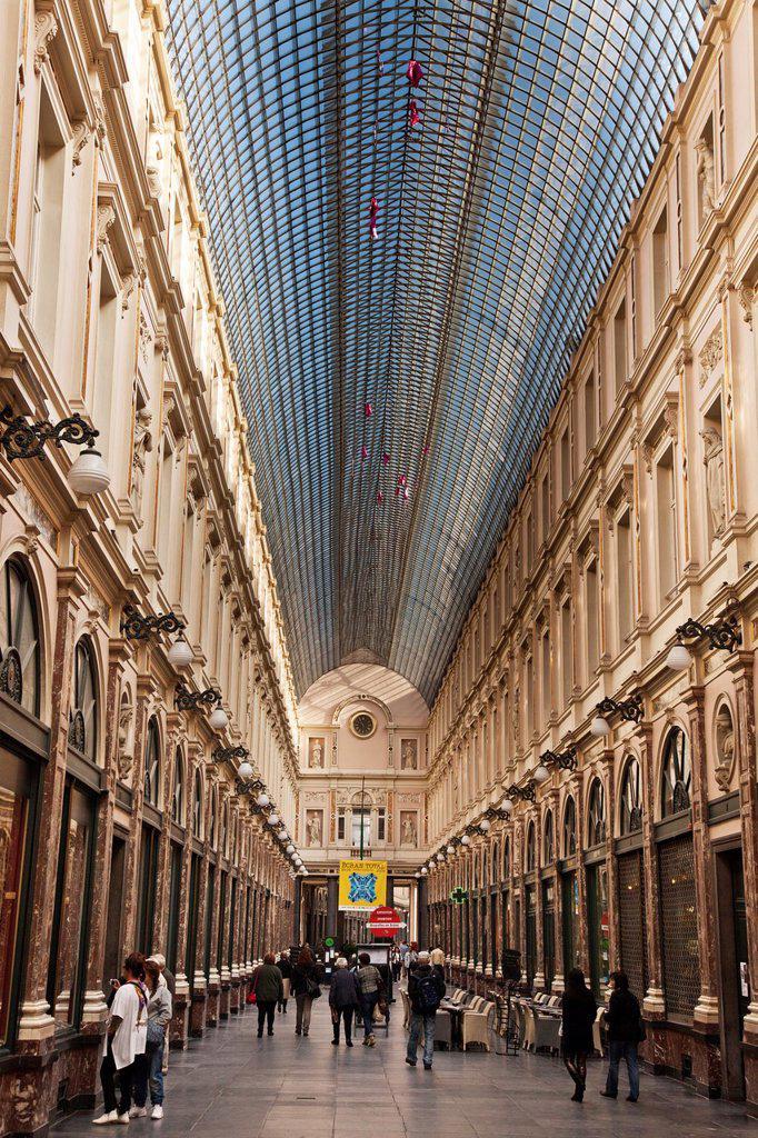 Belgium, Brussels, St. Hubert Gallery : Stock Photo