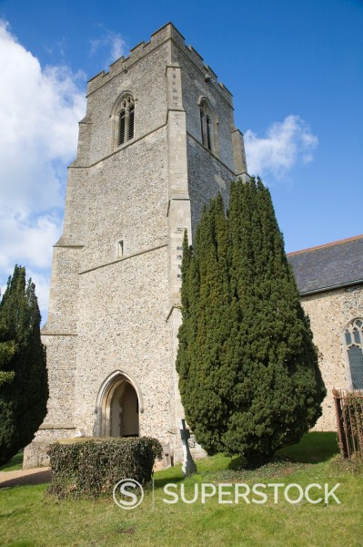 Parish Church of St Mary, Clopton, Suffolk, England : Stock Photo