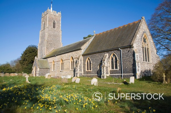 Stock Photo: 1566-994855 Parish church Saint John the Baptist, Campsea Ashe, Suffolk, England