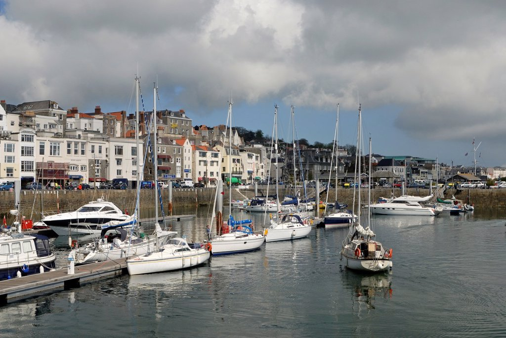 Saint Peter Port, Island of Guernsey, Bailiwick of Guernsey, British Crown dependency, English Channel, Atlantic Ocean, Europe : Stock Photo