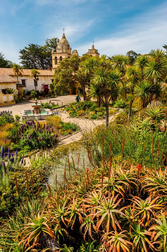Stock Photo: 1566-995453 Carmel Mission, Carmel, Monterey County, California USA