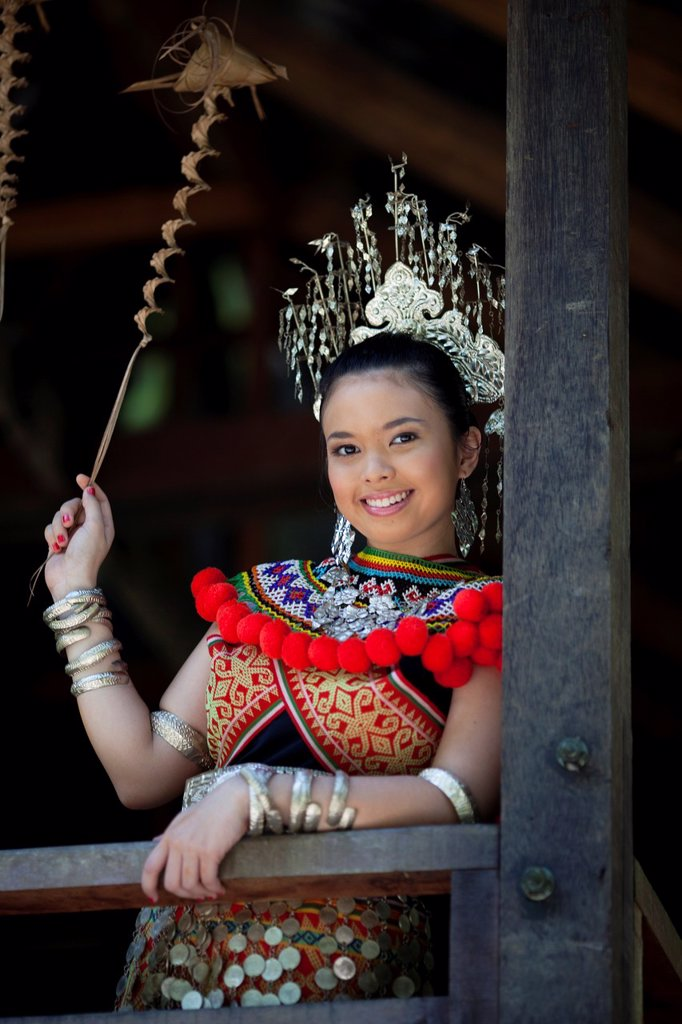 Stock Photo: 1566-996351 Miss World Harvest Festival 2012 held in Sarawak Cultural Village, Malaysia