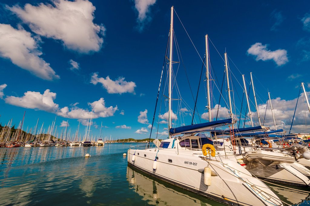 Stock Photo: 1566-996472 Yacht harbor, Port Moselle, Noumea, Grand Terre, New Caledonia