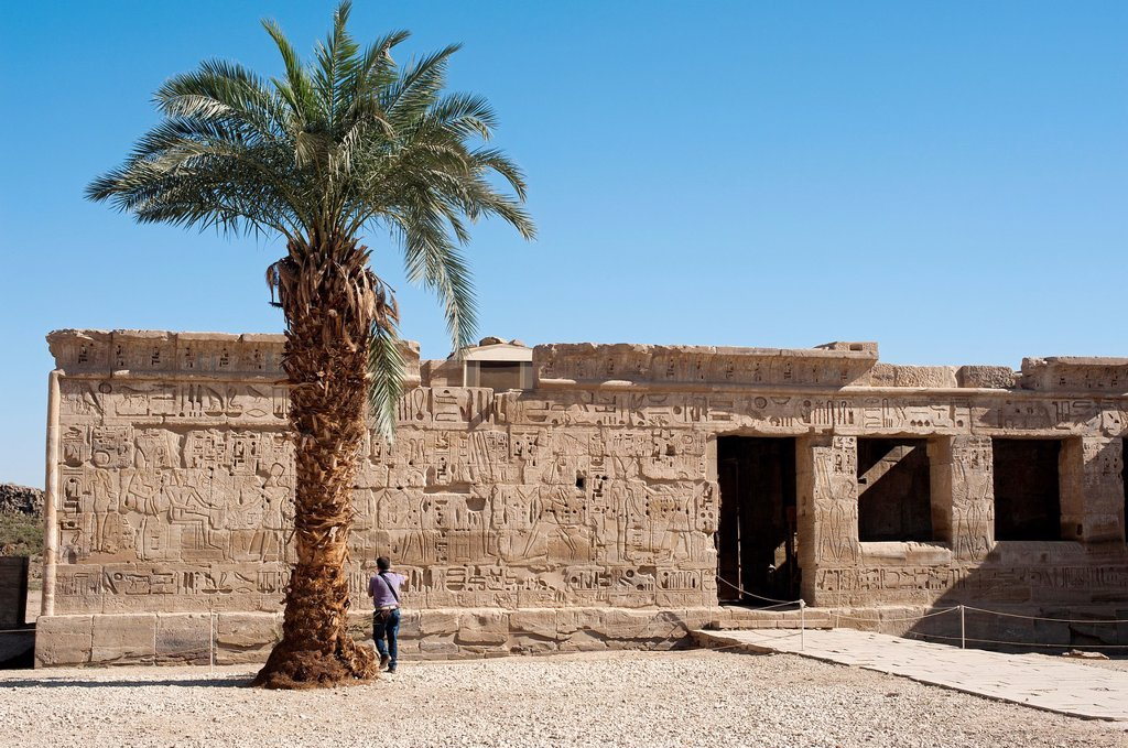 Stock Photo: 1566-996707 Medinet Habu Temple, Luxor, Egypt