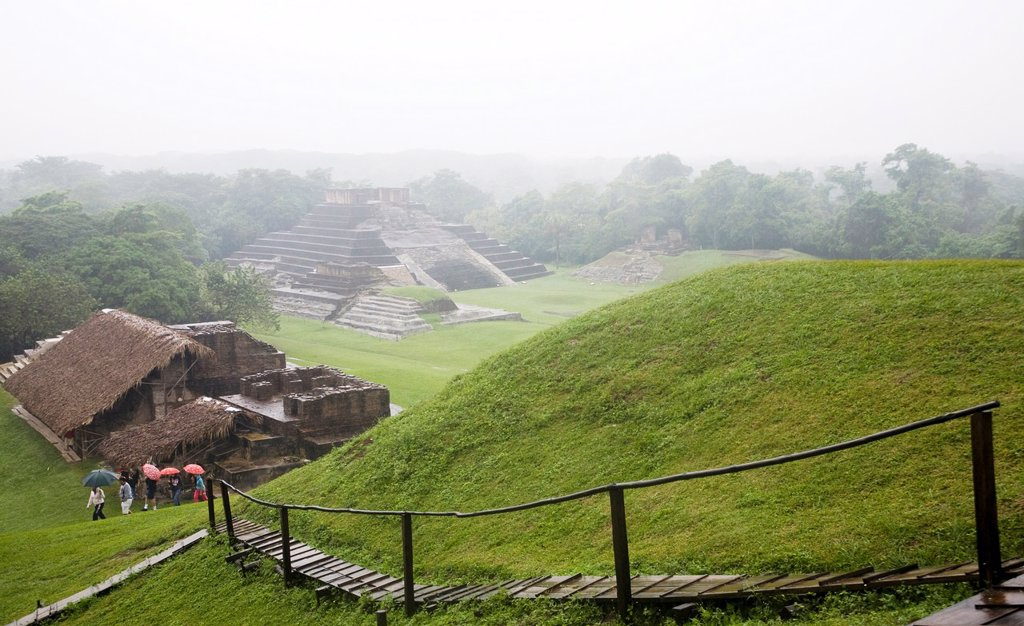Comalcalco Precolumbian Maya Archaeological Site, Tabasco, Mexico : Stock Photo