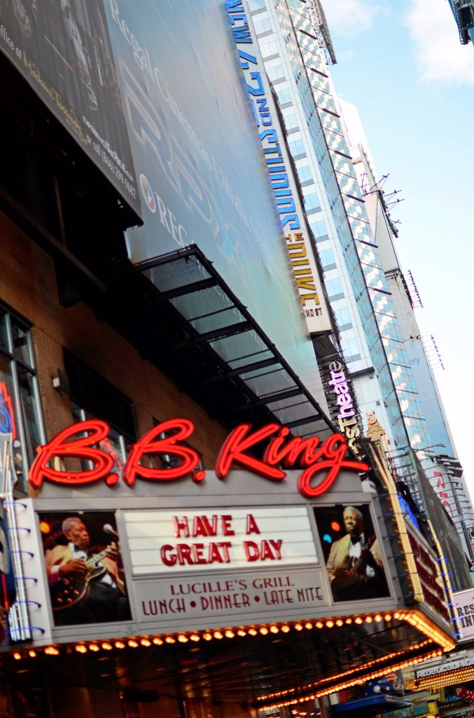 Stock Photo: 1566-997204 B B King´s Lucille´s Grill, Times Square