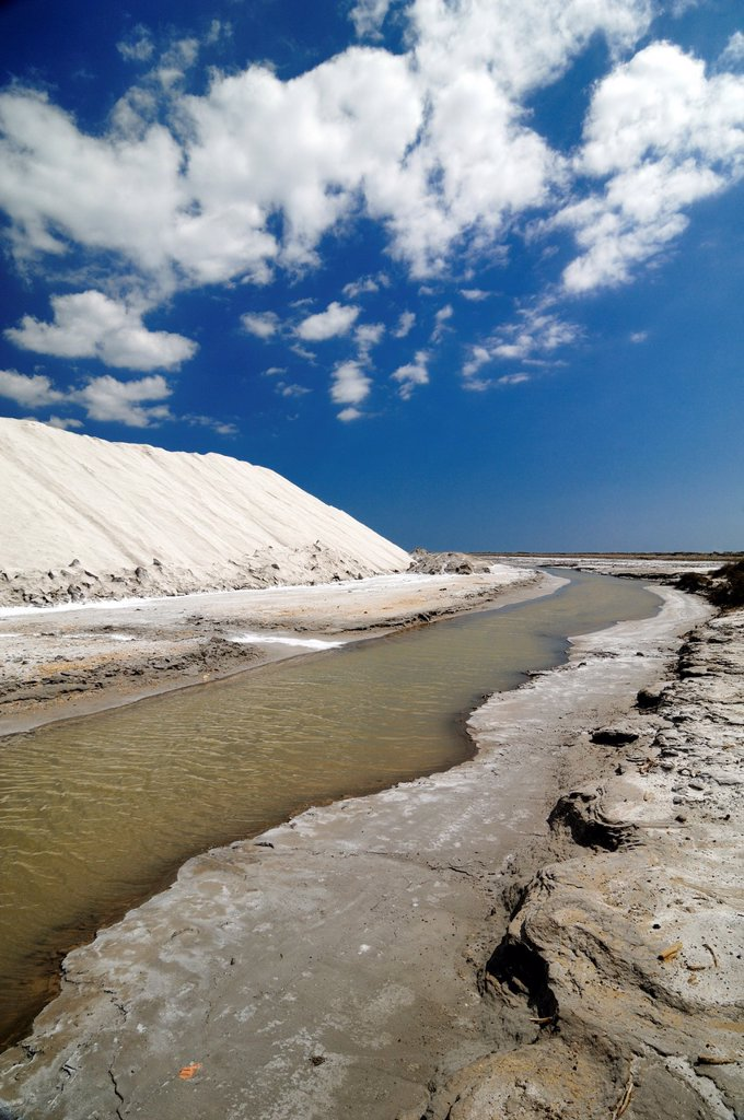Stock Photo: 1566-997674 Salt Works or Piles of Sea Salt Camargue Provence