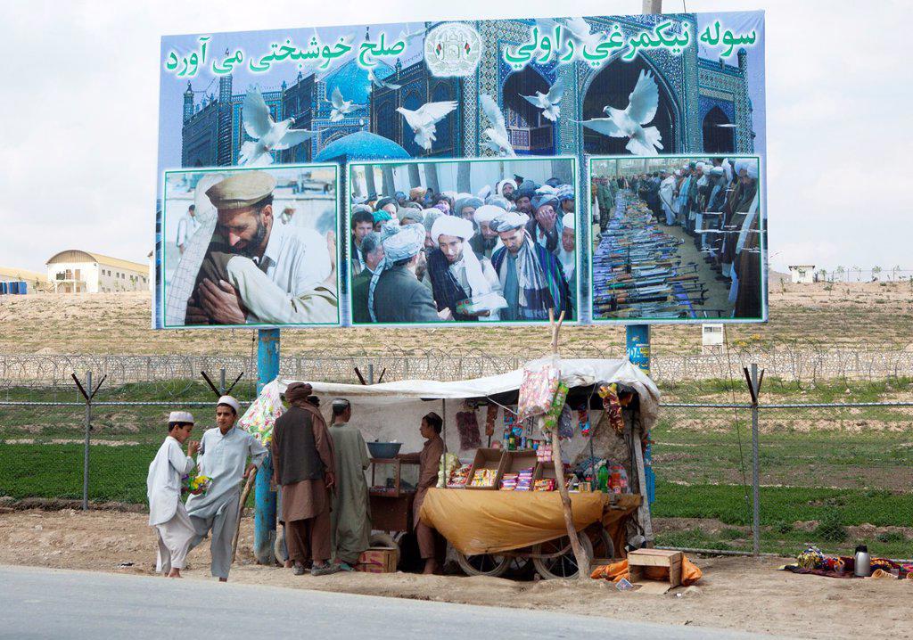 billboard in Kabul, Afghanistan : Stock Photo