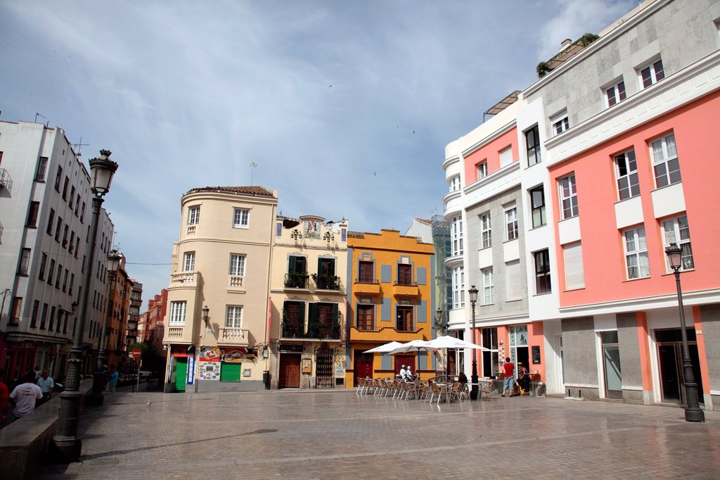 Plaza Cervantes, Malaga, Andalucia, Spain : Stock Photo