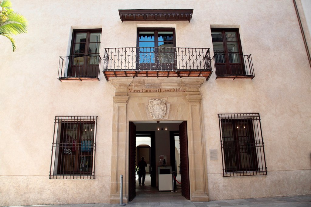 Stock Photo: 1566-999046 Carmen Thyssen Museum Facade, Malaga capital, Andalusia, Spain, Europe