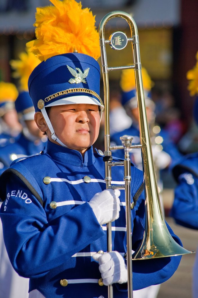 Stock Photo: 1566-999559 Marching band-Korean Festival