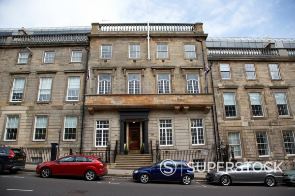 Stock Photo: 1566-999743 218 220 st vincent street 19th century terraced townhouse house glasgow scotland uk