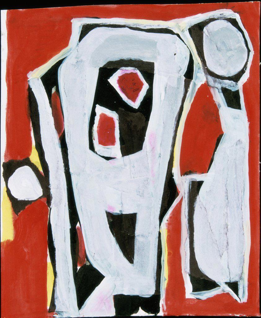 Untitled Study  2004 Hamish MacEwan (20th C. American) Acrylic on canvas : Stock Photo