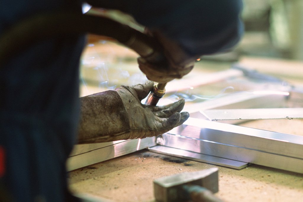 Stock Photo: 1569R-0505 Aluminum welding