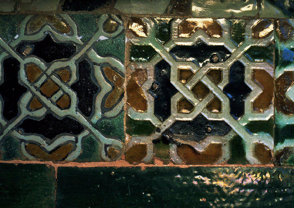 Mosaic tiles, close-up : Stock Photo