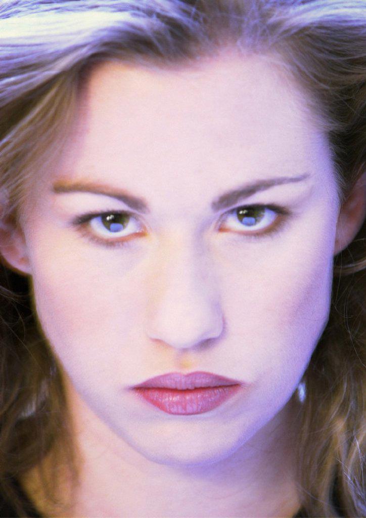 Stock Photo: 1569R-111030 Woman´s face, close-up, portrait