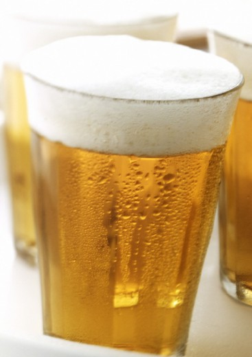 Glasses of beer, close-up : Stock Photo