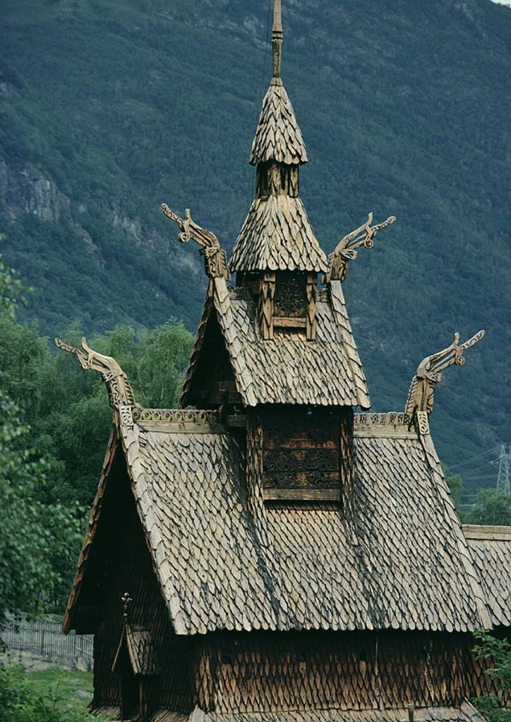 Norway, Stave Church : Stock Photo
