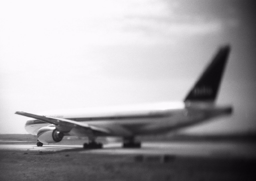 Stock Photo: 1569R-158065 Airplane, b&w