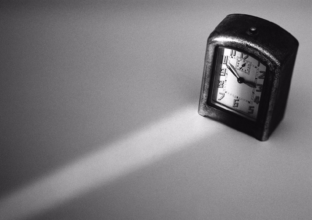 Alarm clock, b&w : Stock Photo