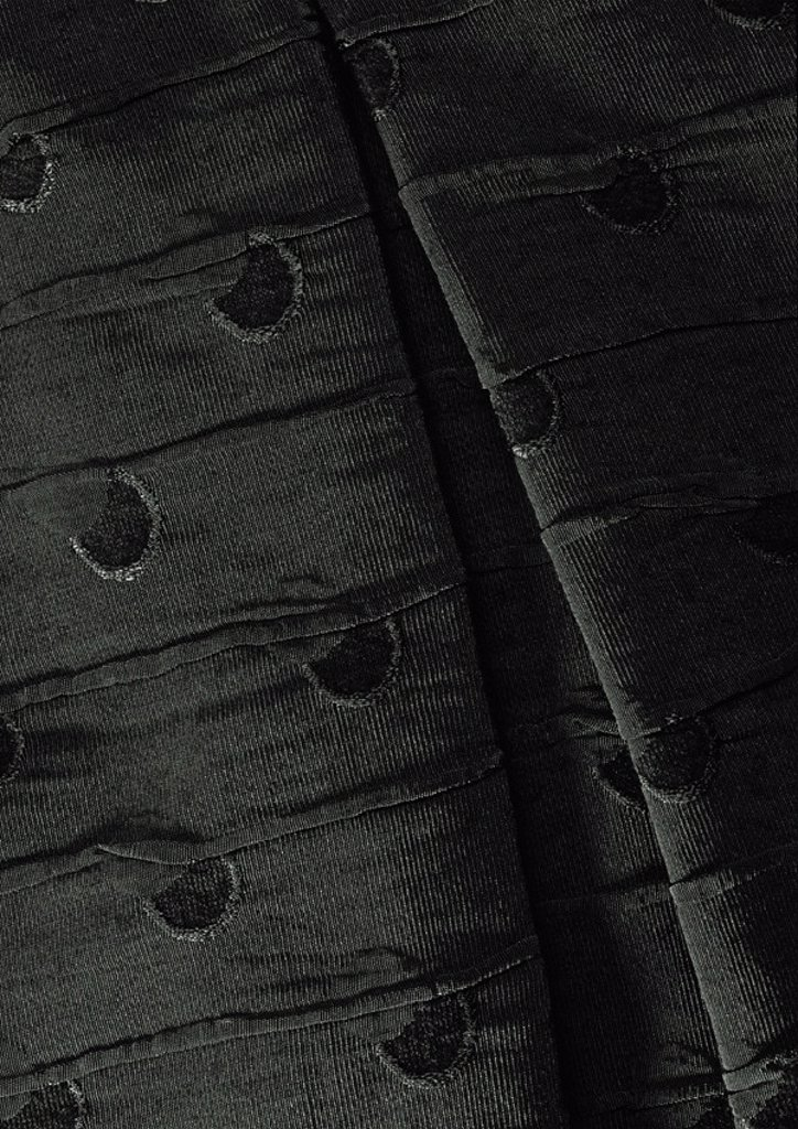 Folds in dark fabric, close-up, full frame : Stock Photo