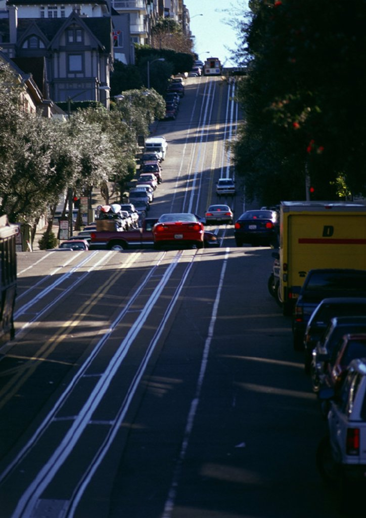 Stock Photo: 1569R-19060 California, San Francisco, cars in street