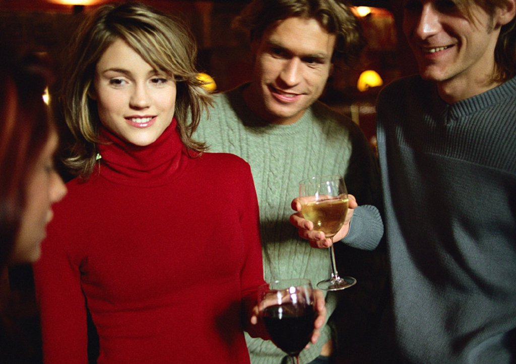 People drinking together : Stock Photo