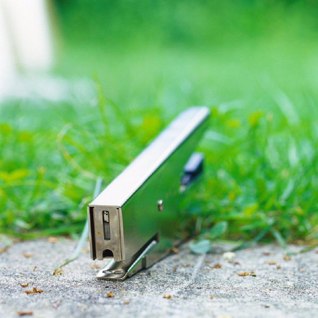 Stapler in grass : Stock Photo