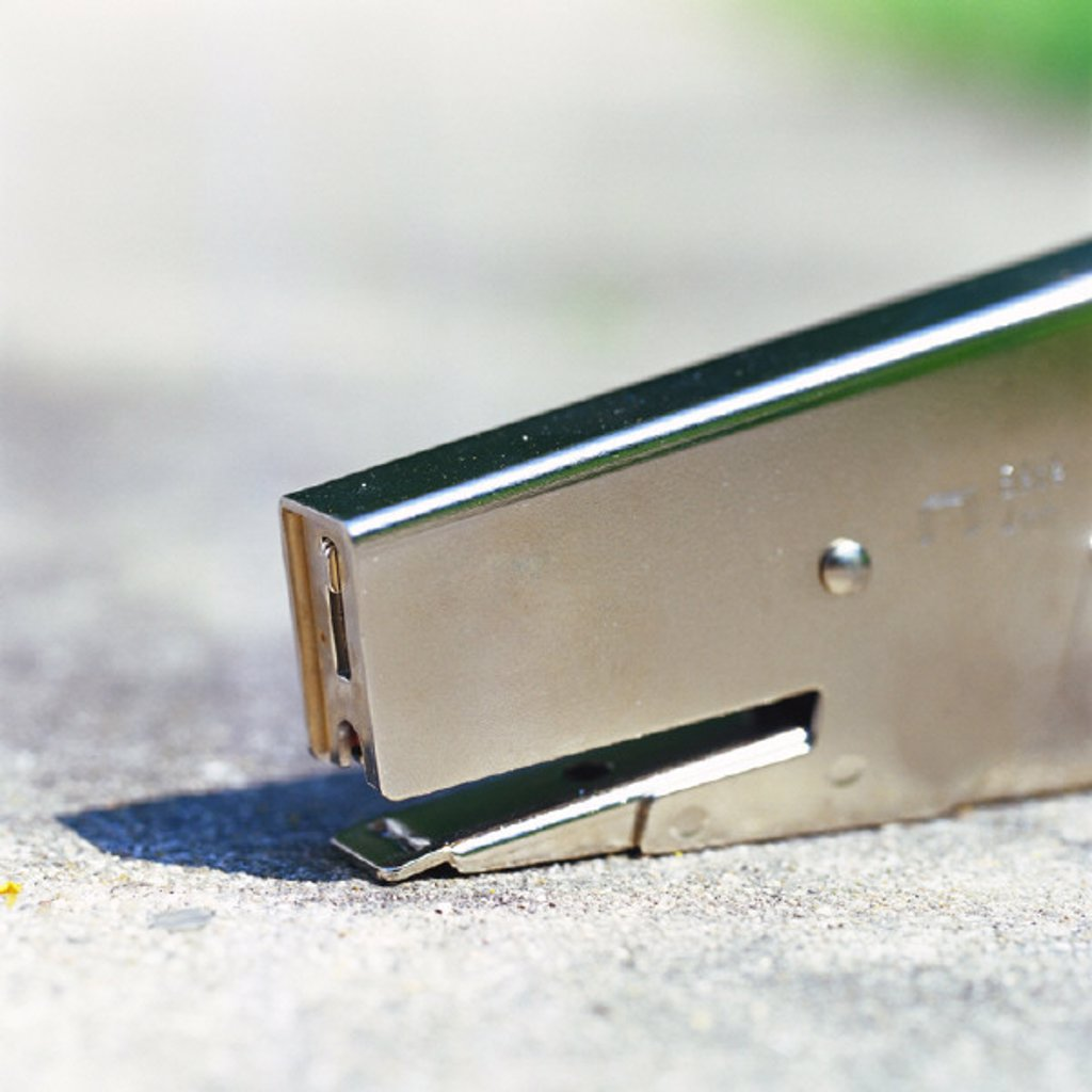 Stapler, close-up : Stock Photo