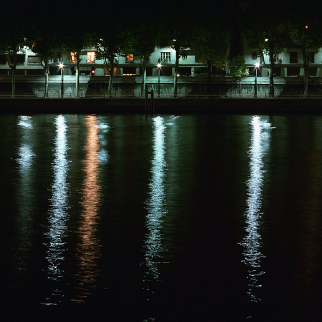 River bank at night : Stock Photo