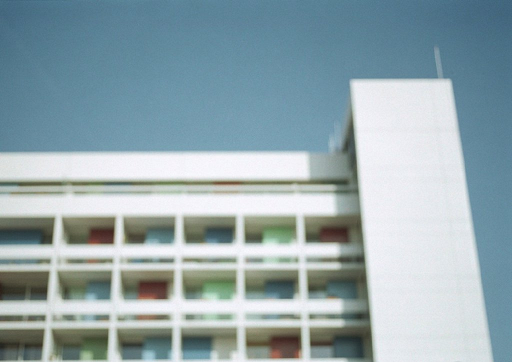 Apartment building, low angle view : Stock Photo