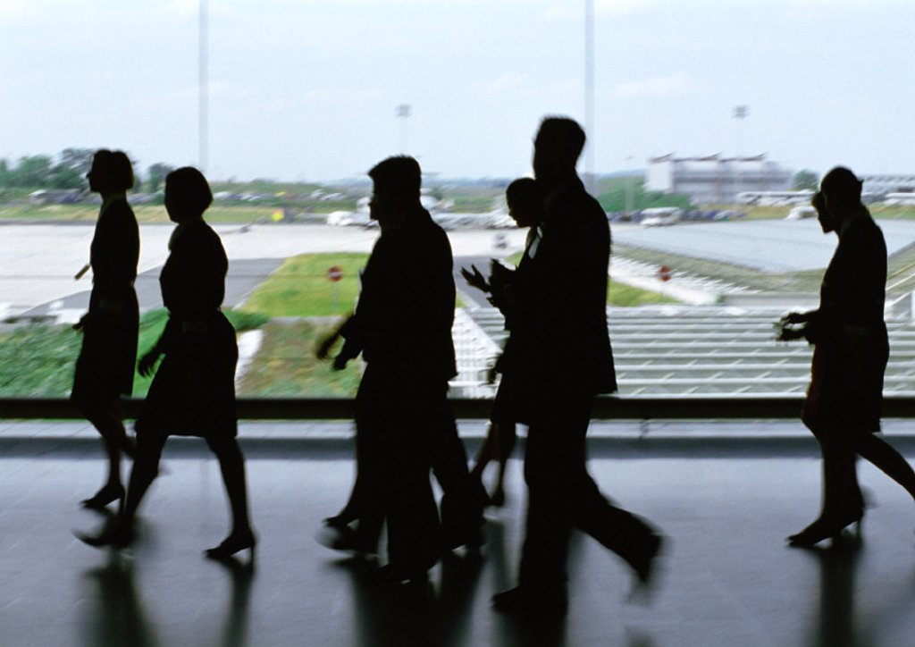 People walking at airport : Stock Photo
