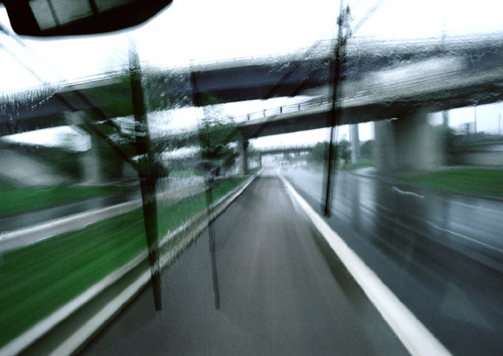 Stock Photo: 1569R-25060 Highways and overpass, blurry