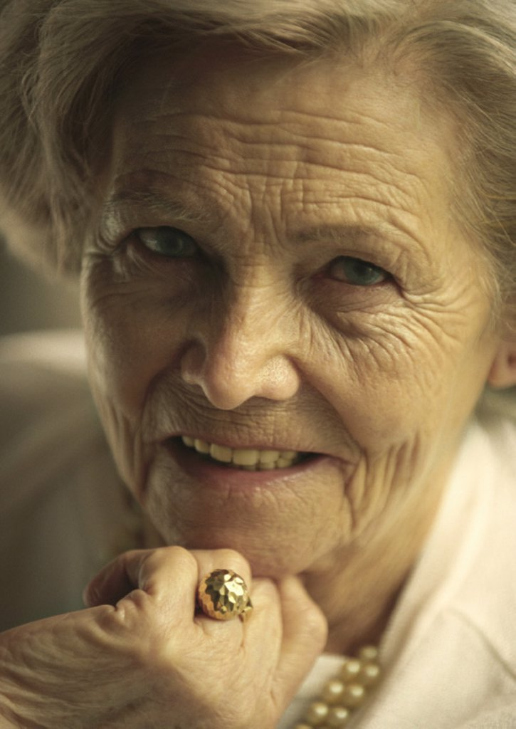 Senior woman, portrait : Stock Photo