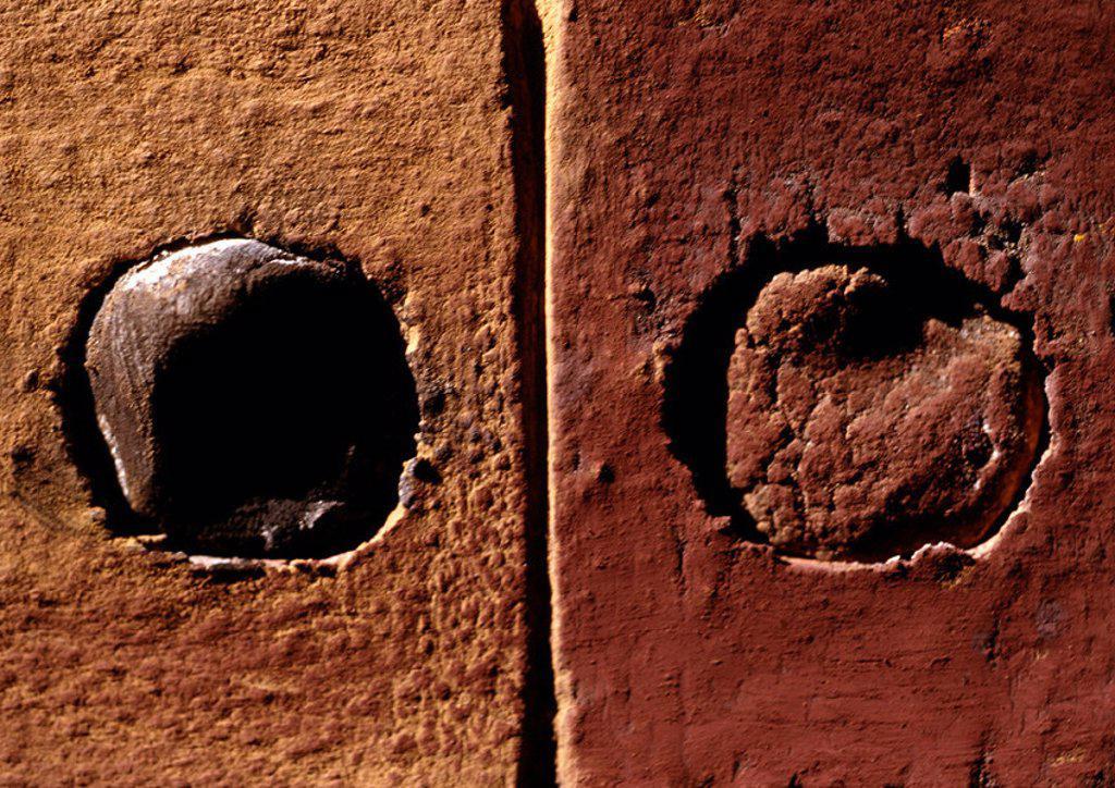 Stock Photo: 1569R-28004 Bricks, extreme close-up