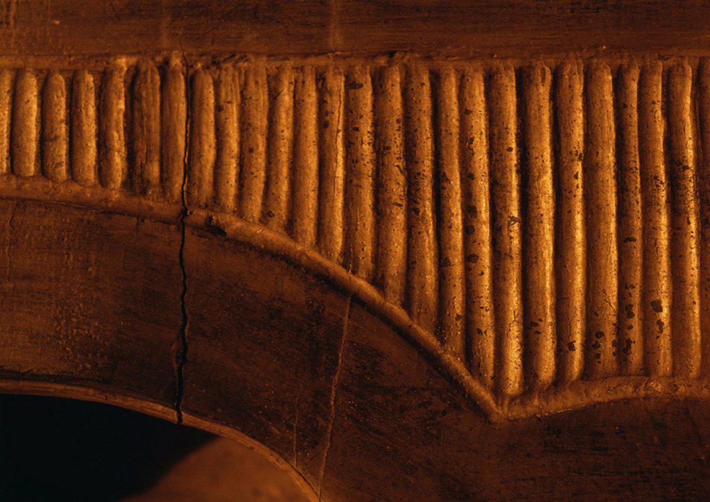 Stock Photo: 1569R-28025 Gilded frieze, extreme close up