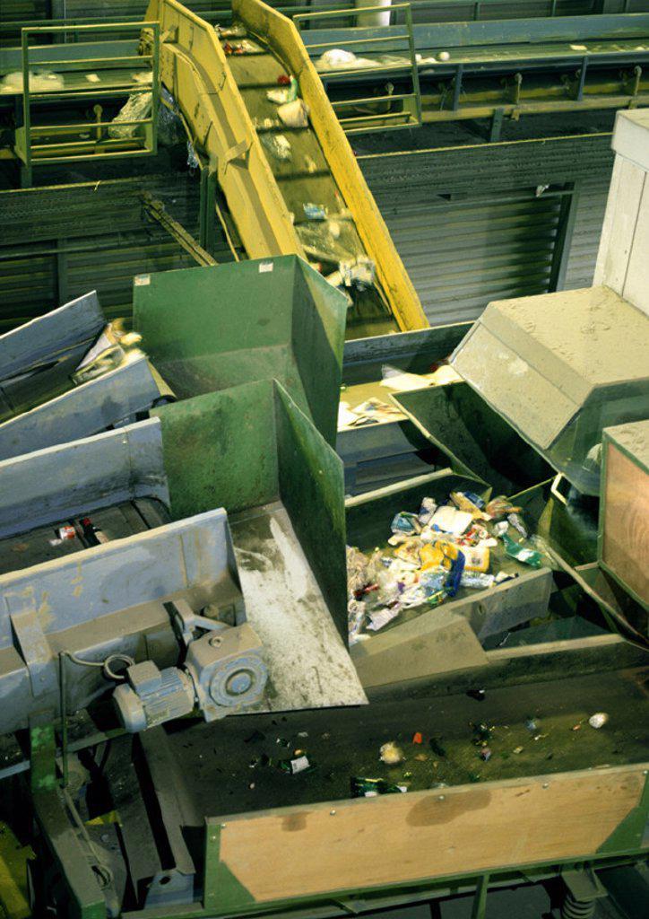Garbage shoot transferring garbage : Stock Photo