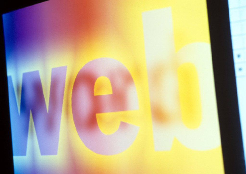 Stock Photo: 1569R-44098 ´Web´ text displayed on screen, close-up