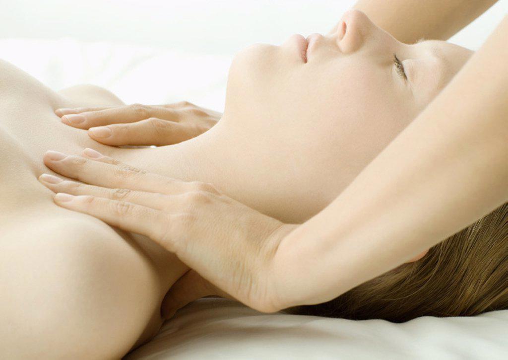 Woman having massage : Stock Photo