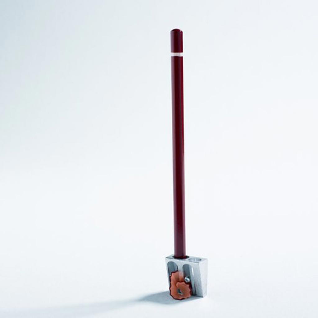 Pencil and pencil sharpener : Stock Photo